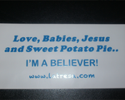 Love, Babies, Jesus and Sweet Potato Pie Sticker